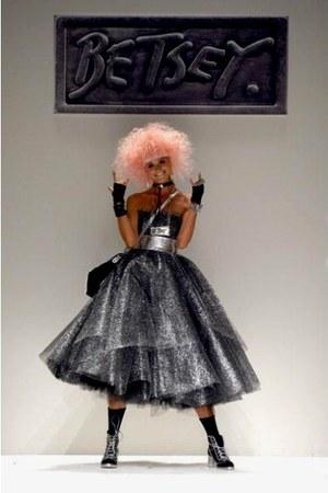 jelly laceup Betsey Johnson boots - grey metallic Betsey Johnson dress
