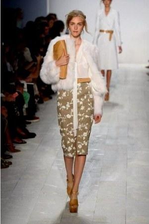Michael Kors skirt - Michael Kors jacket - leather clutch Michael Kors bag