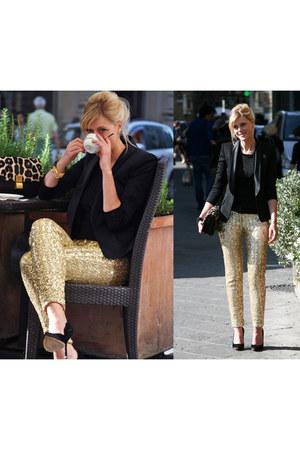 Balmain blazer - Celine bag - N21 pants