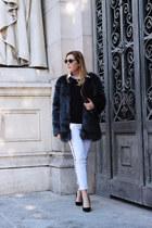 Primark coat - Zara heels - AMBRE BABZOE pants