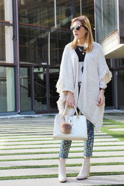 rich and royal jacket - Zara boots - liu jo bag