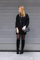 Zara boots - Missguided dress - Kiabi blazer - Chanel bag