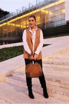 les petites vest - Zara boots - Javier Simorra shirt - loewe bag