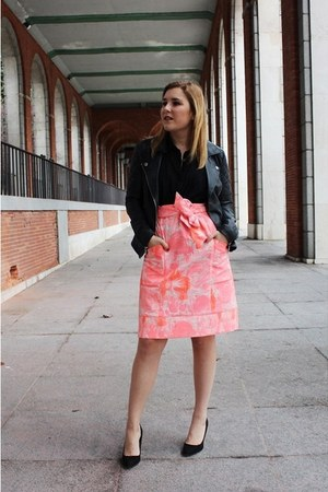 desigual skirt - rich and royal jacket - Zara heels