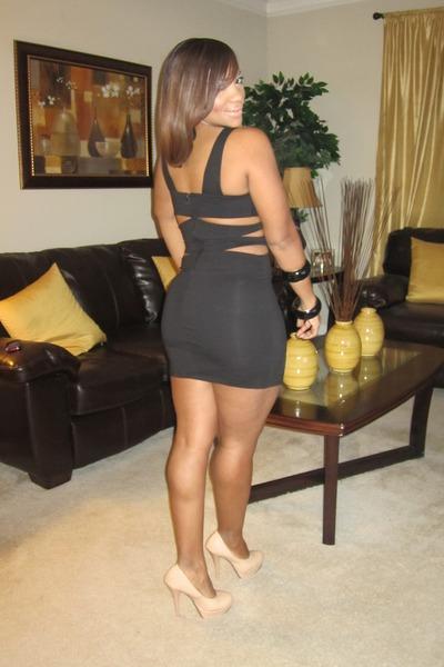 Black papaya clothing dresses nude gojane heels quot lbd quot by
