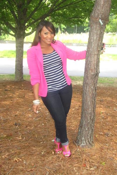 Hot Pink Blazer Thrifted