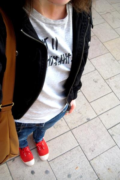 496a2b4bbafdf0 H&M jacket - Bizbee t-shirt - camaieu jeans - Bensimon shoes - H&M  accessories