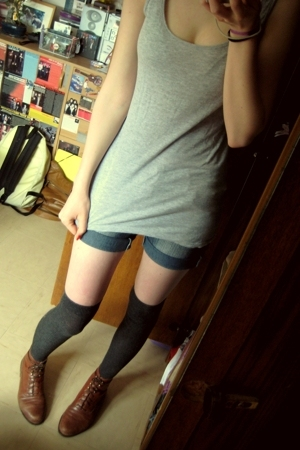 H&M top - shorts - H&M socks - boots