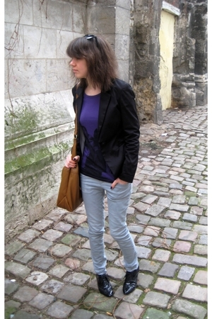blazer - H&M t-shirt - La Redoute sweater - H&M jeans - shoes - H&M accessories