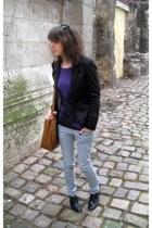 blazer - H&M t-shirt - La Redoute sweater - H&M jeans - shoes - H&M accessories