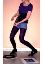 H&M t-shirt - shorts - Pimkie tights - DIM tights - shoes