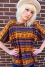 Mustard-batik-some-velvet-vintage-shirt