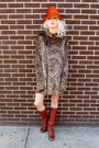 Tawny-leopard-some-velvet-vintage-dress