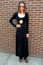 black black some velvet vintage dress