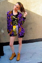 purple baroque some velvet vintage jacket