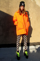 orange hunter some velvet vintage coat