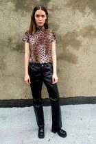 black leather Gap pants