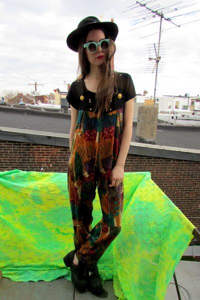 overalls some velvet vintage pants