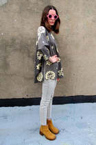 heather gray tribal print some velvet vintage shirt