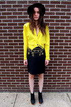 80s some velvet vintage jacket - anchor Vintage Escada skirt