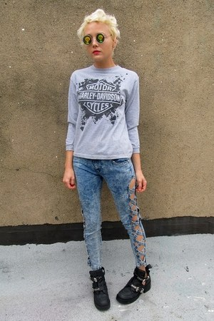 heather gray heathered Harley Davidson shirt