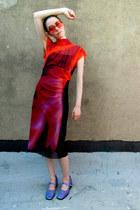 orange mesh Vivienne Tam dress