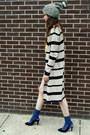 Striped-maxi-some-velvet-vintage-cardigan