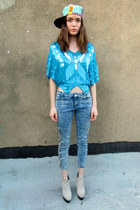 aquamarine butterfly some velvet vintage shirt