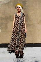 animal print some velvet vintage dress