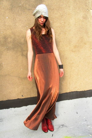 metallic some velvet vintage dress