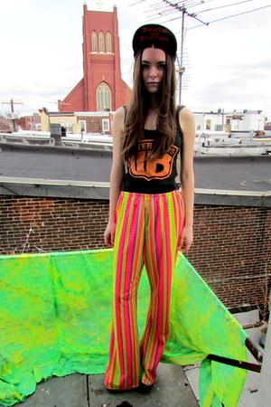 neon some velvet vintage pants