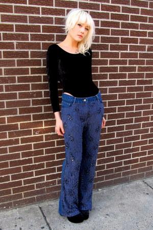 lace some velvet vintage jeans