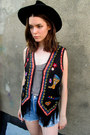 Black-fringe-some-velvet-vintage-vest