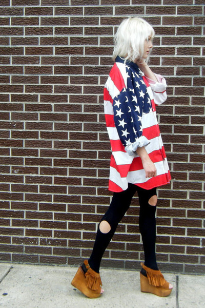 flag some velvet vintage shirt