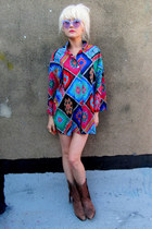 aquamarine aztec some velvet vintage shirt