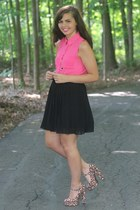 pink OASAP blouse - black Forever21 skirt