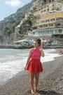 Hot-pink-aeropostale-top-red-oasap-skirt-light-brown-tj-maxx-sandals