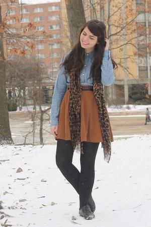 black Forever21 shoes - periwinkle Target shirt - bronze Forever21 skirt