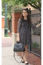 Black-lulus-shoes-heather-gray-forever21-dress-black-handbag-heaven-purse