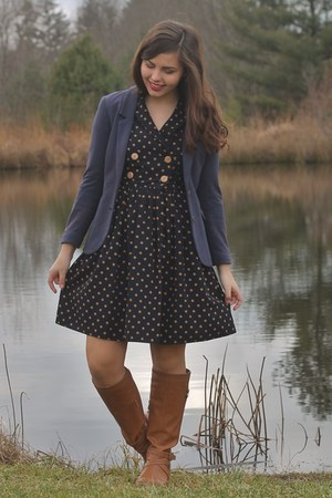 navy Forever21 dress - navy H&M jacket
