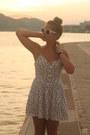 White-h-m-dress-white-lulus-sunglasses