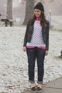 Navy-aeropostale-jeans-black-h-m-jacket-hot-pink-oasap-blouse