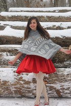 silver Forever21 cape - red luluscom dress