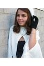 White-thrifted-sweater-black-target-dress-black-thrifted-gloves-white-thri