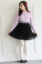 black Forever21 skirt - light purple LuLus sweater