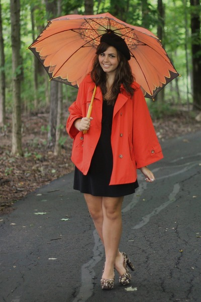 dark brown pink and pepper heels - carrot orange Forever21 cape