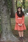 Dark-brown-pink-and-pepper-boots-carrot-orange-modcloth-dress