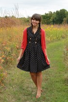 navy Forever21 dress - ruby red gabes cardigan