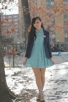 blue H&M blazer - sky blue Forever21 dress
