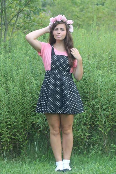 black Forever21 dress - salmon Forever21 shirt